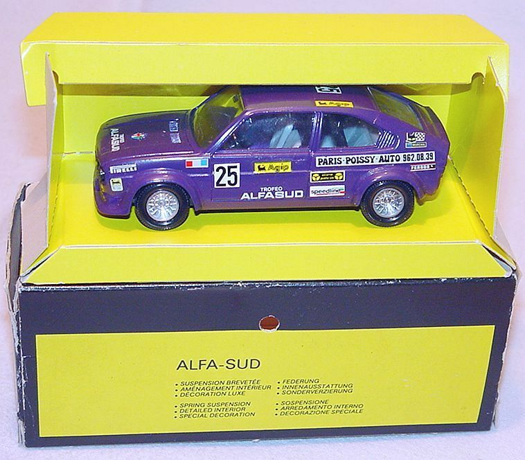 Solido 1 43 ALFA ROMEO ALFASUD Trofeo    Purple  Rallye Model Car MIB`76 RARE  c74683