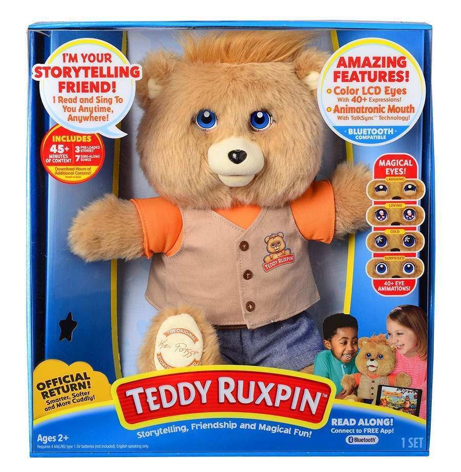Teddy Ruxpin Smarter, Softer, Magical Eyes Storytime Bear Doll Toy blutooth NEW