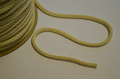 BRAIDED COTTON CORD ECRU ROPE STRING FOR CRAFT 6MM DIAMETER