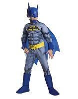 Batman Unlimited Deluxe Muscle Kids Costume Superhero Size Medium 8-10