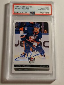 2014-Fleer-Ultra-John-Tavares-PSA-DNA-authenticated-Auto-Maple-Leafs-MINT