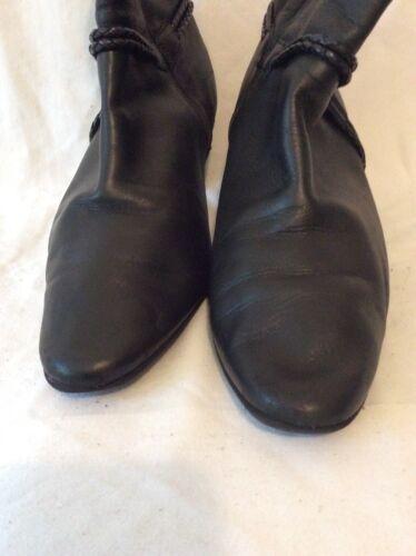 taille cuir en Bottines large de noires plus wgxgI1