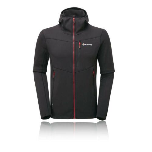 Montane Homme Gris Sweat à Capuche Noir Sport Respirant Zip complet à capuche en plein air TOP