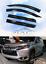 For Mitsubishi Montero Sport 16-18 3D MUGEN STYLE Window Visor Guard Door Visor