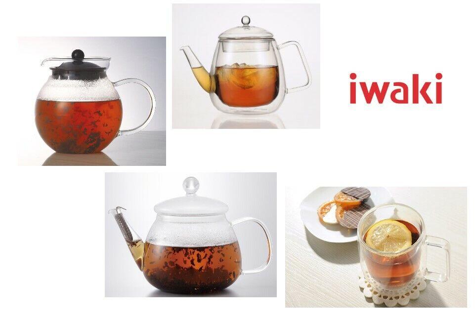 Double Layer Heat Resistant Glass Tea Pot By Iwaki Japan Air Mug jumping tea pot
