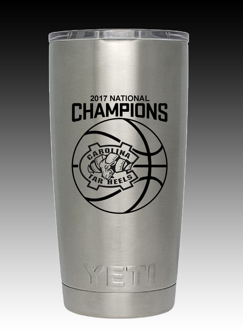 YETI 20 oz North Carolina Tar Heels Championship  stainless  cup free shipping