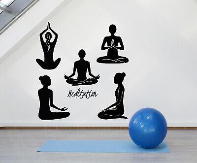 vinyl wall decal relaxation om meditation yoga girls lotus