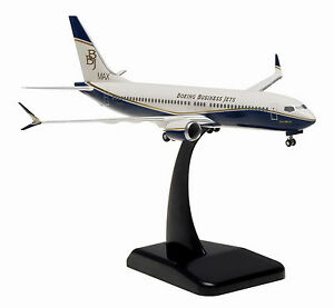 Hogan Wings Boeing Business Jet 737 Max 8 1/200 W/Gear HG10437G, New