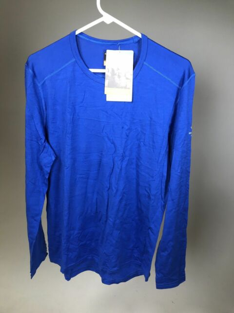 NWT! ICEBREAKER Men/'s Merino Wool Men/'s 200 SPRINT Long Sleeve Crew Shirt