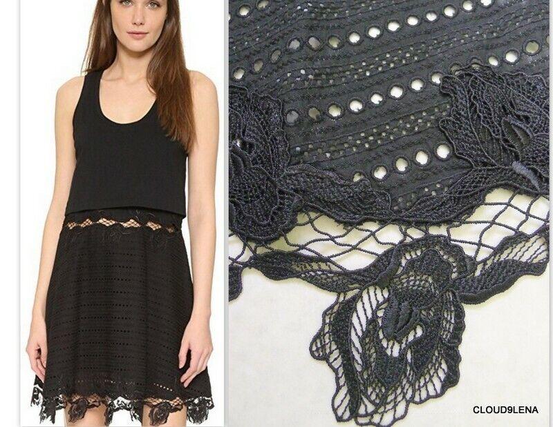 NWT THAKOON Größe XS Embroiderot Lace Eyelet Layerot Tank Dress