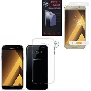Film-Verre-Trempe-Coque-Gel-UltraSlim-pour-Samsung-Galaxy-A5-2017-5-2-034-A520F