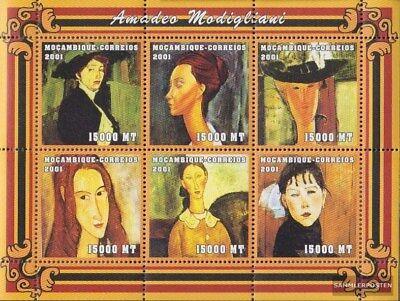 Never Hinged 2001 Art Art Friendly Mosambik 2133-2138 Sheetlet Unmounted Mint