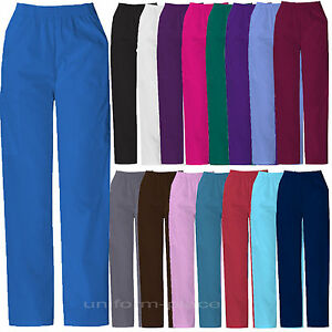 570a9c9eb66 Dickies Scrubs Pants Women ELASTIC WAIST Cargo Pocket 850506 Medical ...