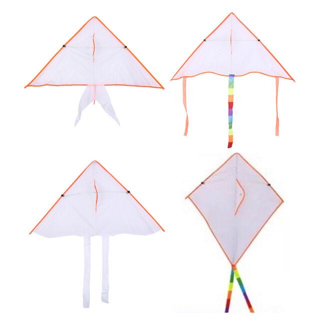 diy painting kite foldable outdoor beach kite children kids sport funny toy 9C