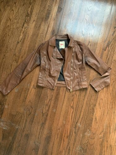 Pool Colors Brown Leather Jacket