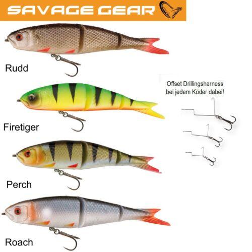 fertig montiert Savage Gear Soft 4Play Swim/&Jerk Gummifische Hechtköder