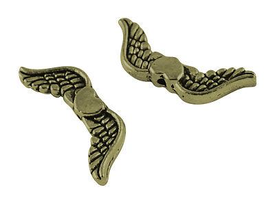40 Pièces ailes perles 20x7mm Spacer Bronze Métal Bricolage Ange Ailes 1607