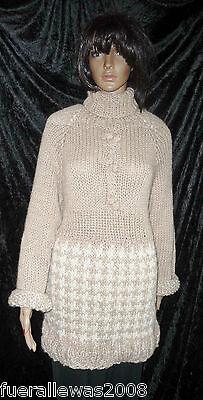 handgestrickt Pullover 100% Alpaka  Retro Vintage Gr. 42 44 hand knitted sweater