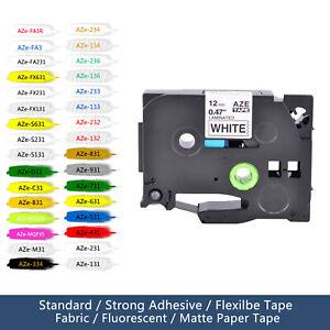 "1/2"" Label Tape Cartridge TZ231 TZe231 TZ131 TZ631 for Brother P-Touch 0.47"""
