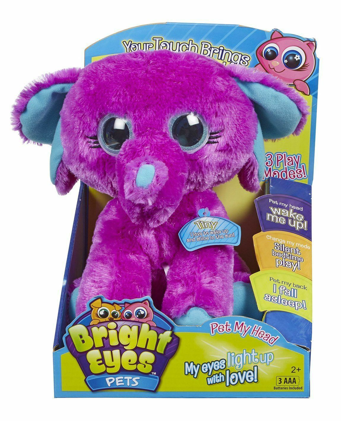 Bright Eyes Pets - TINY The ELEPHANT - Plush Interactive Toy  - NEW