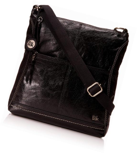 The Sak Iris Crossbody Black Onyx Cross Body Handbags