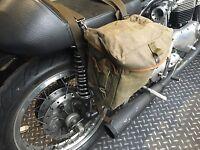 1 PAIR GRADE 1 USED GREEN NYLON MOTORCYCLE PANNIERS HEAVY DUTY [72769]