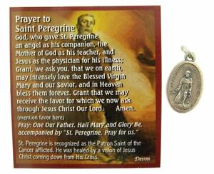 Silver-Tone-Saint-Peregrine-Medal-Pendant-with-Holy-Prayer-Card-1-Inch