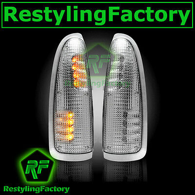 2003-2007 Super Duty Side Mirror Turn Lights LED CLEAR Lens Replacement Kit Set