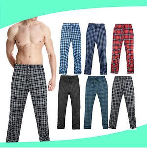 belleza precio baratas excepcional gama de estilos Detalles de NUEVO Hombre Pijamas Salón Pantalones Ropa De Dormir Algodón a  Cuadros Tartán