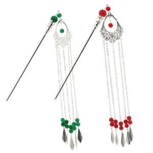 2x-Japanese-Ladies-Hair-Clip-Stick-Tassel-Dangle-for-Kimono-Dress-Headwear