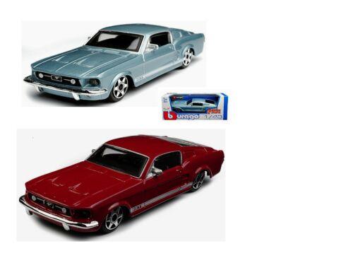 hellblau oder rot Modellauto Bburago Ford Mustang 1:43 1964 NEU in OVP