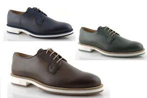 Chaussures Homme Bleu l Derby Vert Cuir Brun rPqBrg5wz