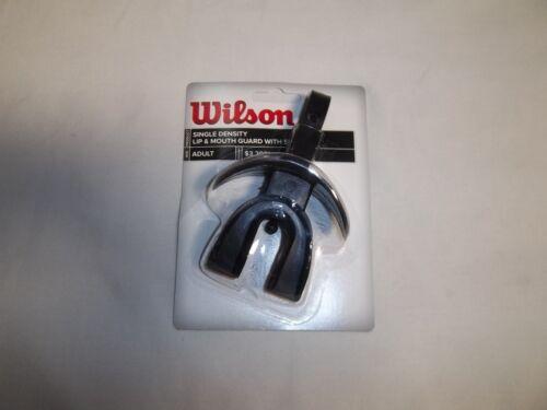 WTFMG1852 Black Wilson Single Density Lip /& Mouth Guard w// Strap