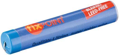 L-Sn Cu 0,7 /% Ag 3,5 /% Fixpoint Lötzinn Ø 1,0 mm 12,5 g Rolle