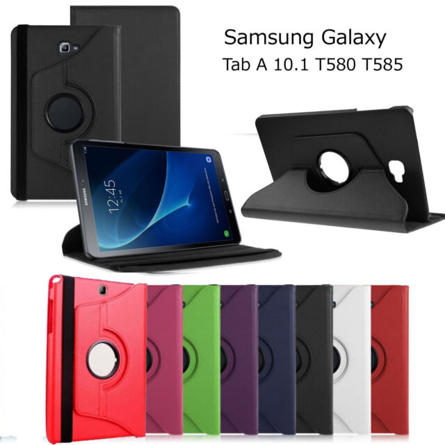 New Samsung Galaxy Tab A T580 360 Rotation Leather Case Cover For T585 Tab A 10