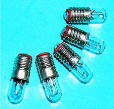 5x E5,5 Mini Miniatur Lämpchen Glühlampe 12V 80mA  1W E5