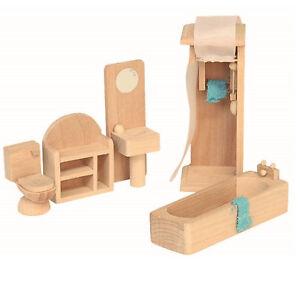 Badezimmer Puppenhausmöbel Puppenhaus Zubehör Holz Einrichtung ...