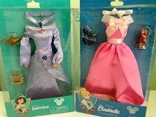 "Disney Jasmine and Cinderella Doll Costume Set Doll Clothes 12""...New"