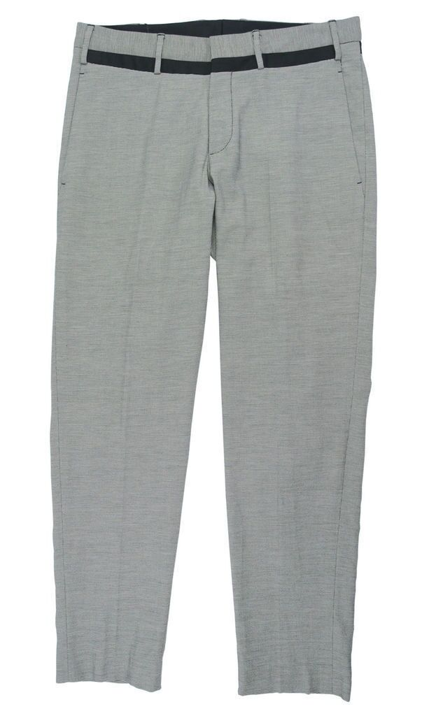 Neil Barrett micro hounstooth skinny fit pant grey- finished hem