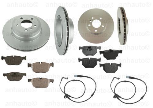 Brake Kit Front+Rear  Anti-Rust Rotors  Pads+Sensors BMW X5 xDrive35i 11-13