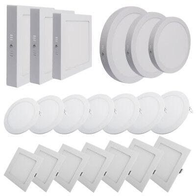 2/1stk. Led Panel Deckenleuchte Einbaustrahler / Oberflächenmontage 12w 18w 24w