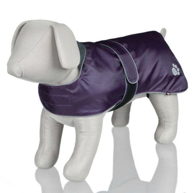 Trixie Purple Dog Puppy Rain Coat Warm Nylon Extra Small Medium Large Unisex