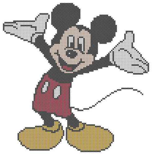 Counted Cross Stitch Pattern Free US Shipping Mickey Mouse