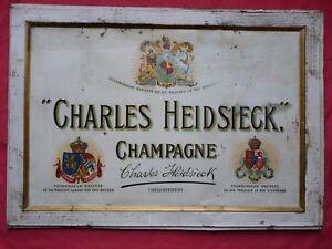 CHAMPAGNE-CHARLES-HEIDSIECK-Tole-lithographiee-Ca-1920-Imp-De-Andreis-Marseille