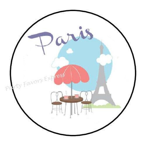 """30 PARIS ENVELOPE SEALS LABELS STICKERS PARTY FAVORS 1.5/"""" ROUND"""