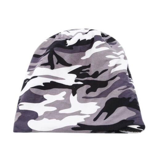 Camouflage Cotton Beanie Hat Warm Winter Army Military Urban Camo Skull Cap HZ
