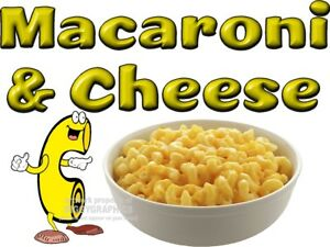 MACARONI-amp-CHEESE-VINYL-DECAL-CHOOSE-A-SIZE-CONCESSION-STANDS-BOARDWALK-SHOPS