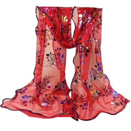 Women Pretty Long Soft Chiffon Scarf Ladies Girl Wrap Shawl Beach Stole Scarves