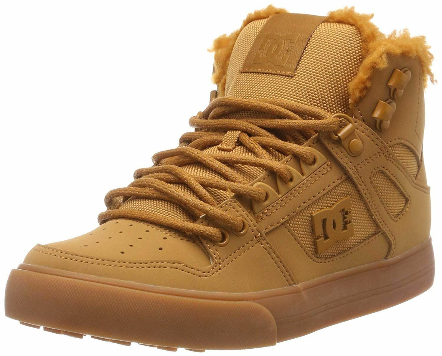 DC Pure High Top WC WC WC WNT Wheat Mens Leather Hi Trainers 0242f6