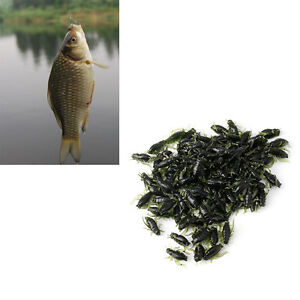 100pcs Outdoor Lightweight Soft Fishing Lures Cricket Insect Baits 0.8g 2cm